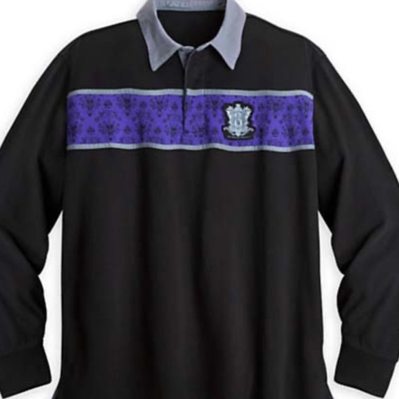 Disney Other - 1 MED Disney Haunted Mansion Polo Longsleeve Shirt